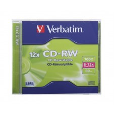 CD-RW Verbatim 700MB 8-12X 80min